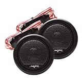 Skar Audio TWS-01 Tweeters de cúpula de seda de neodimio de 240 vatios, 1 pulgada de potencia máxima, par