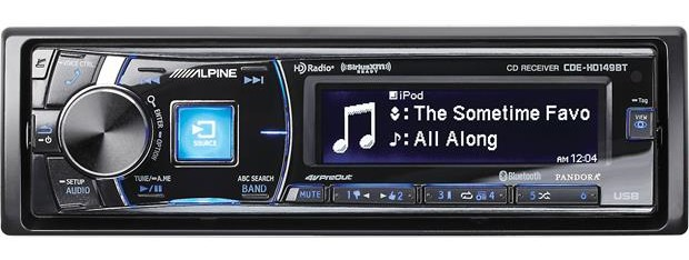 Estéreo de coche bluetooth mono-din Alpine CDE-HD149BT
