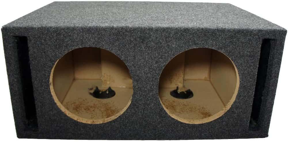 American Sound Connection Subwoofer SPL doble de 8 pulgadas con laberinto de ventilación