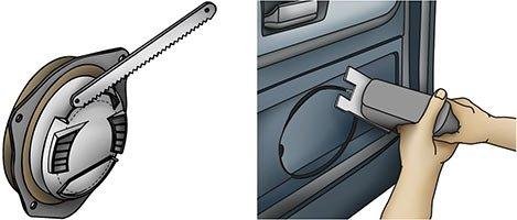 altavoces del coche del panel de puerta personalizados